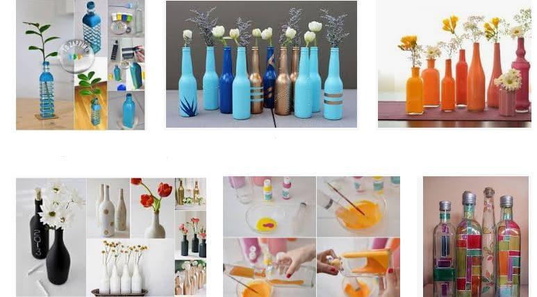 ¿Como pintar botellas de vidrio?